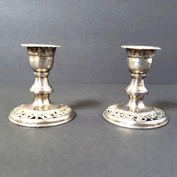 Mid-century silver candlesticks